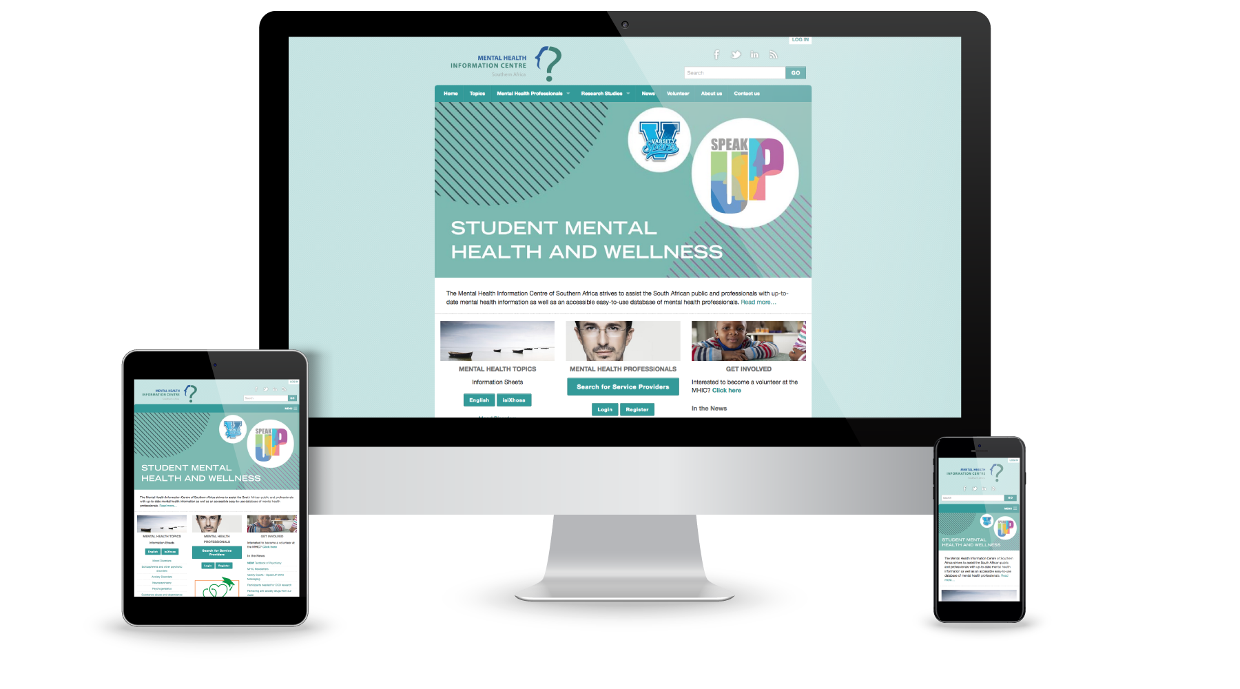 WordPress website development for the Mental Health Information Centre of SA