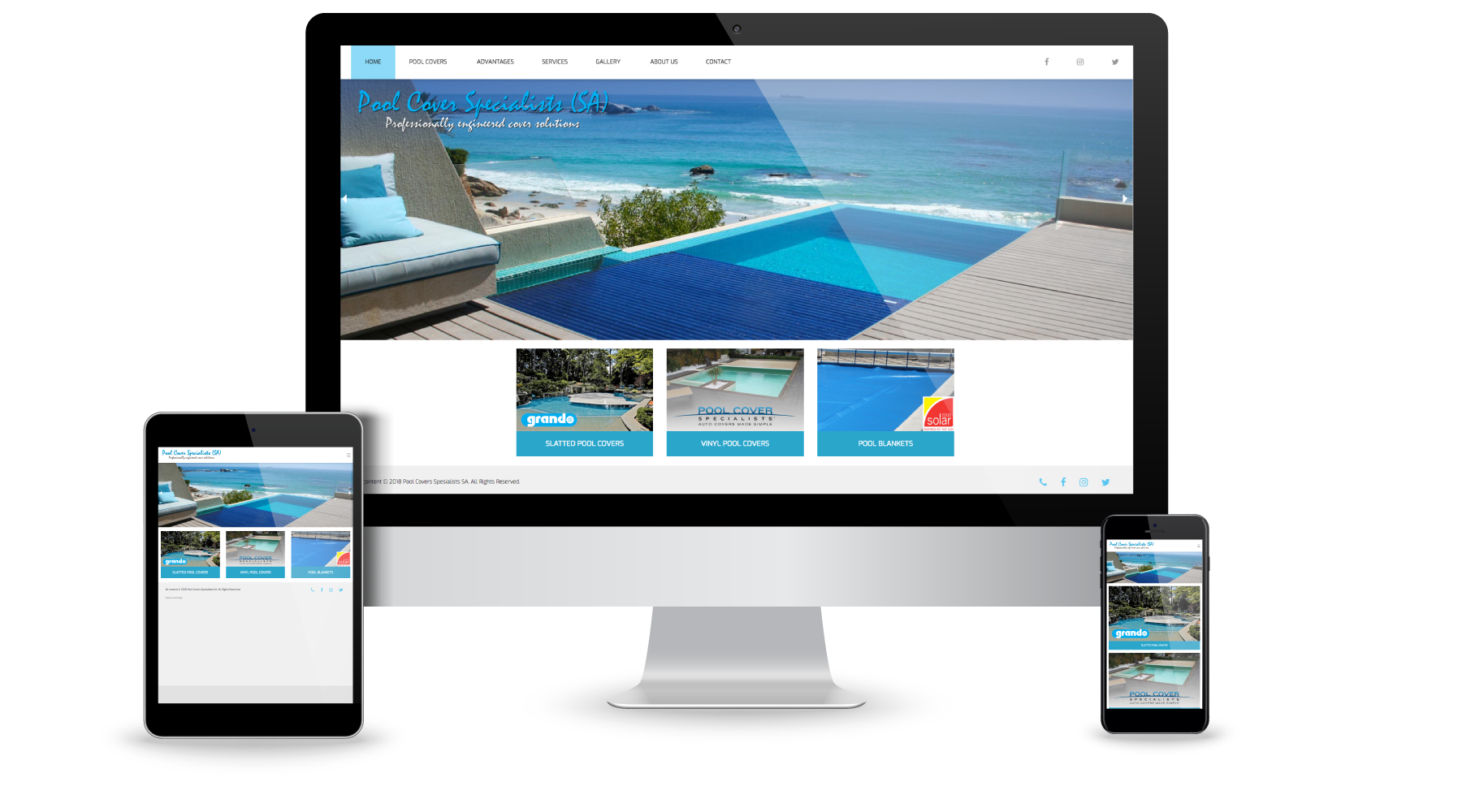 WordPress website for Pool Cover Specialists SA