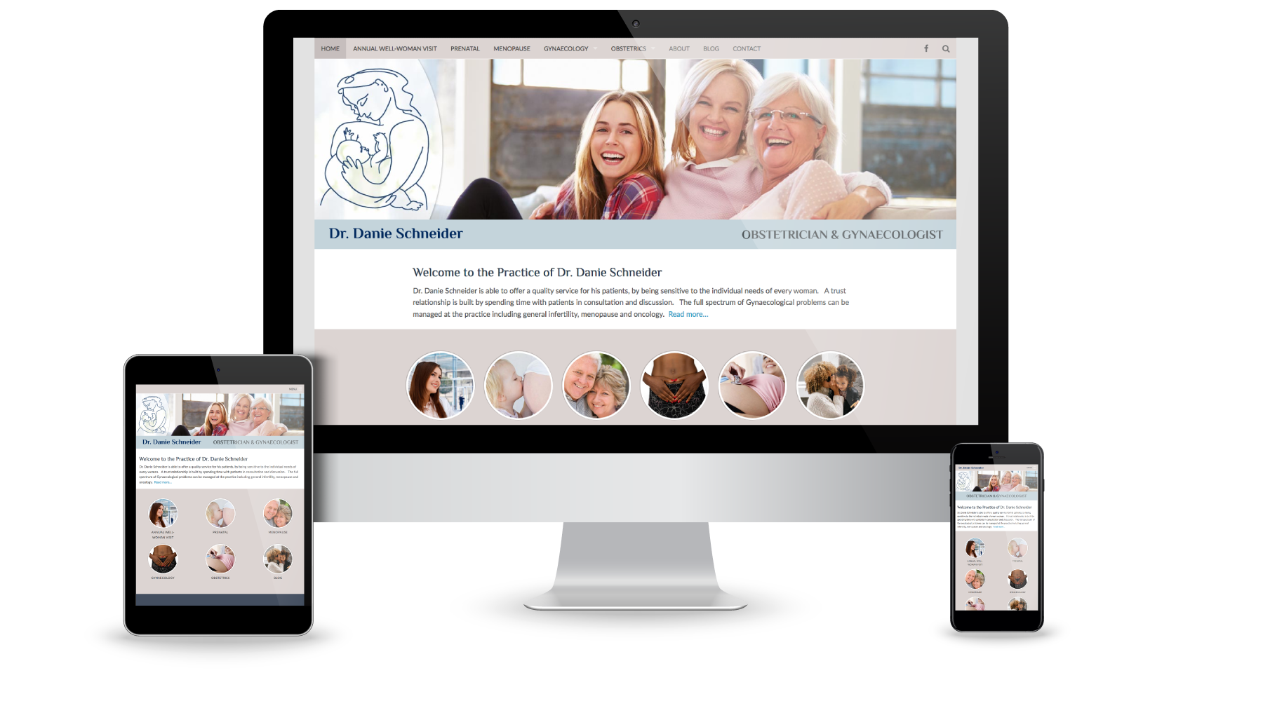 WordPress website for Dr. Danie Schneider